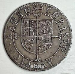 CENTREPIECE King Charles 1st Briot Milled 6 Pence Anchor Mintmark (1638-1639)