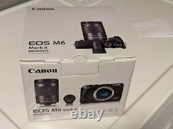 Canon EOS M6 Mark II 32.5MP Silver with EF-M 18-150mm and EVF Mint