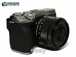 Canon EOS M6 Mark II Mirrorless Digital Camera withEF-M 15-45mm Lens Silver MINT