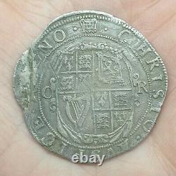 Charles 1st, Hammered Silver Halfcrown, Mint Mark portcullis, 1633-34