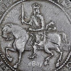 Charles I, 1625-49. Hammered Silver Crown, 1645. Exeter Mint. Mint Mark Castle