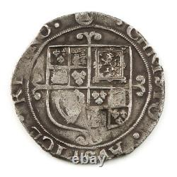 Charles I Silver Shilling Triangle-In- Circle Initial Mark Tower Mint Under the