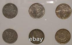 Complete CC Silver Dollar + (5) Morgan Dollar Mint Mark Set in Capitol withgem 81s