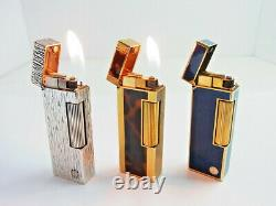 Dunhill Rollagas Lighter d Mark Blue Lapis Lazuli & Brown Marble & Silver Lot 3