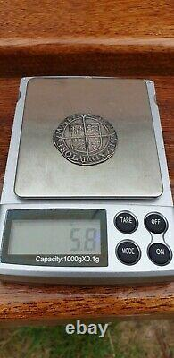 Elizabeth 1st Sixth issue, 1582-1600. Mint mark Tun 1592-95, Spink 2577 coin
