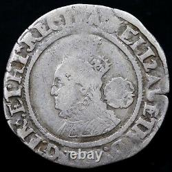 Elizabeth I, 1558-1603. Hammered Silver Sixpence, 1567. Mint Mark Lion