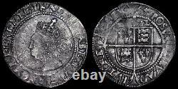Elizabeth I, 1558-1603. Hammered Silver Sixpence, Mint Mark Ermine, 1572/2