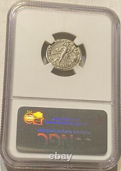 Emperor Tarjan Roman Empire Silver Denarius Ad 98-117 Ngc VF Mint Mark On Collar