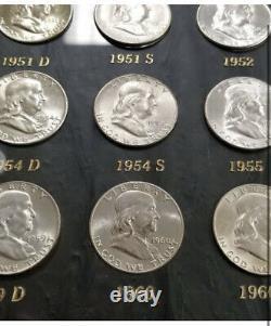 Full Franklin Half Dollar Half Dollar Album 1948-1963 Every Coin and Mint Mark