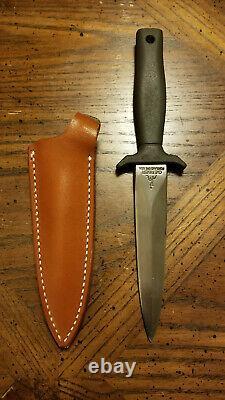 Gerber Mark I Combat Knife. Early Serial #. Mint! Green Armorhide/Brown Sheath