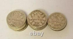 Germany 1/2 (0.5) Mark Full Roll (25 Coins) Silver Lot 1905 1919 Very Rare Nr