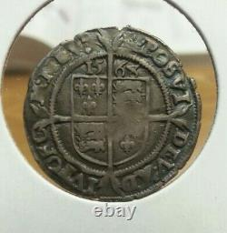 Great Britain Elizabeth I 1568 silver SixPence with Coronet Mintmark