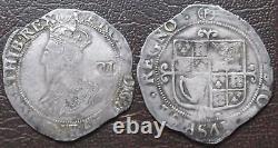 Hammered silver Shilling Charles I (P) mintmark FREE UK postage (no. 41)