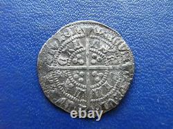 Henry VI Silver Halfgroat Annulet issue Calais mint 1422-30 Plain cross mintmark
