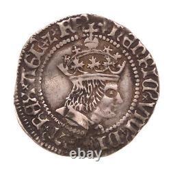 Henry VIII Silver Halfgroat, Lis Mint Mark Canterbury Mint 1509-1526