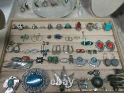 Huge Southwest & Native American Jewelry Lot 400g Marked Sterling Silver (SP)