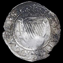 Ireland. James I, 1603-25. Hammered Sixpence. Mint Mark Rose. Second Coinage