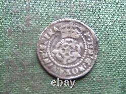 JAMES 1st 1603-1624. SILVER HALFGROAT. MINT. MARK TOWER. NICE CONDITION