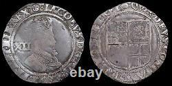James I, 1603-25. Hammered Shilling. Mint Mark Rose, 1605-6