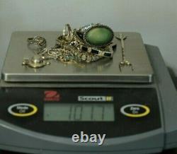 Jewelry Lot Sterling Silver All Marked 101.7 g Rings Bracelets Earrings ETC