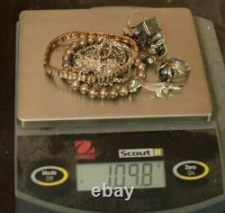 Jewelry Lot Sterling Silver All Marked 109.8 g Rings Bracelets Earrings ETC