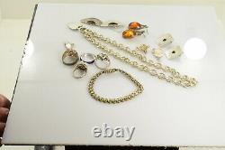 Jewelry Lot Sterling Silver All Marked 148.6 g Rings Bracelets Earrings ETC