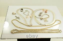 Jewelry Lot Sterling Silver All Marked 155.8 g Rings Bracelets Necklaces Etc