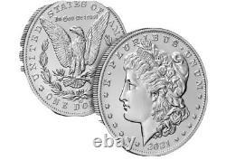 LOT OF 6 Morgan 2021 Silver Dollar with CC Privy Mark PRE-SALE 21XC