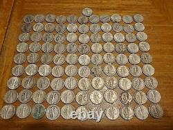 Lot Of 500 Mercury Dimes 90% Silver With Wide Range Dates Mint Marks