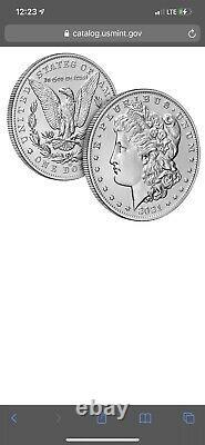 Lot Of Ten (10) Morgan 2021 Silver Dollar with CC Privy Mark CONFIRMED PRESALE