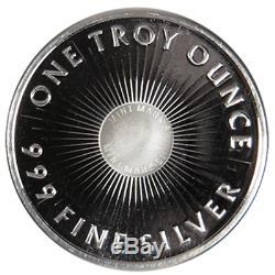 Lot of 20 1 Troy oz Sunshine Minting. 999 Fine Silver Round Mint Mark SI