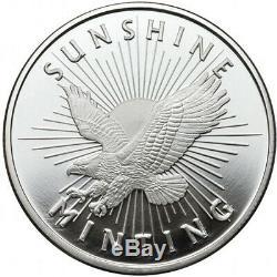 Lot of 20 1 oz. 999 Fine Silver Round Sunshine Minting Mint Mark SI