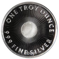 Lot of 5 1 Troy oz Sunshine Minting. 999 Fine Silver Round Mint Mark SI