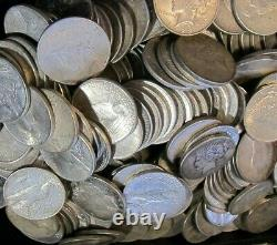 Lot of 50, 1922-1925 US $1 Silver Peace Dollars, Mixed Dates & Mint Marks, XF