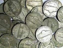 Lot of 83 Silver War Nickels 1942-1945 Jefferson Silver Nickels Large Mint Marks