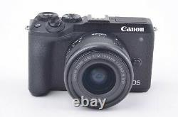 MINT- CANON EOS M6 Mark II BODY withEF-M 15-45mm f/3.5-6.3 IS STM LENS, BATT+CHARG