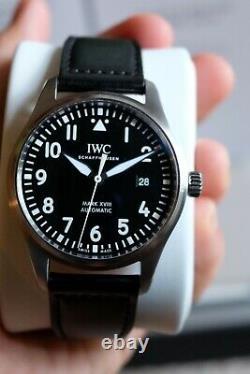 MINT IWC Pilot Mark XVIII IW327009 black Dial Automatic Watch! 6 Year Warranty
