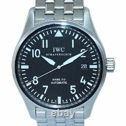 MINT PAPERS IWC Pilot Mark XVI Stainless Steel Black Date 39mm IW325504 Watch
