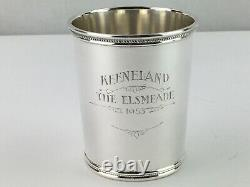 Mark J Scearce Silver Mint julep Cup Harry Truman WithMonogram Keeneland 1953