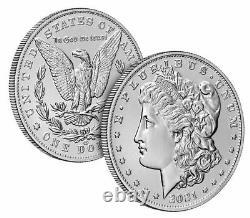 Morgan 2021 Silver Dollar. CC Privy Mark. PRESALEUS MINT CONFIRMED (21XC)