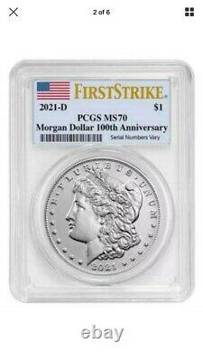 Morgan 2021 Silver Dollar D Mint Mark PCGS MS70 First Strike Presale CONFIRMED