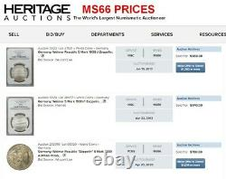 Ngc Ms67 Germany 5 Mark Zeppelin 1930-f Single Finest Mint State At Ngc For Type