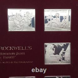Norman Rockwell 10 Silver Favorite Moments From Mark Twain Proof Franklin Mint