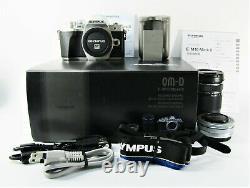 Olympus OM-D E-M 10 Mark lll Digital Camera with14-42+40-150 Lens Kit Near Mint