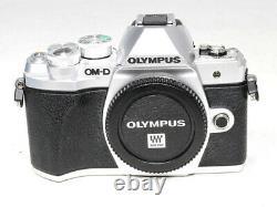 Olympus OM-D E-M10 EM10 Mark III Digital Camera Body Only Silver MINT
