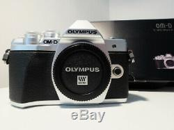 Olympus OM-D E-M10 Mark III Silver! 2226 click only! Mint Boxed
