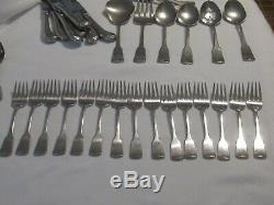 Oneida AMERICAN COLONIAL Cube Mark 64 Pc Lot Fork Knife Spoon Serving Pieces