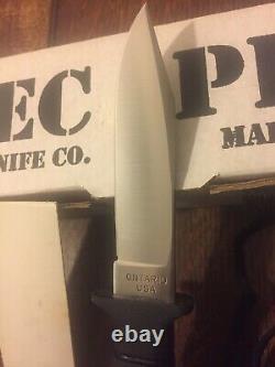 Ontario USA Spec Plus Mark 1 SPS 21-95 Fixed Blade Boot Knife & Sheath Box MINT