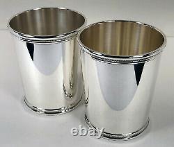 Pair Mark J Scearce sterling mint julep cups President Richard Nixon RMN clean