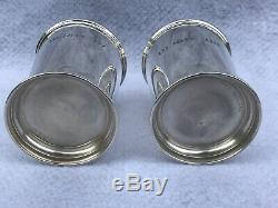 Pair Of Poole 58 Sterling Silver Julep Cups Marked Derby 67 & 68 Mint